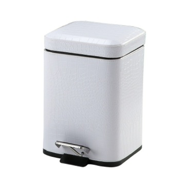 Gedy Pedal Bin Soft Close 3L White Faux 2209-02