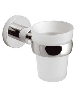 Vado Elements Frosted Glass Tumbler And Holder - ELE-183-C/P