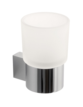 Vado Infinity Frosted Glass Tumbler And Holder - INF-183-C/P